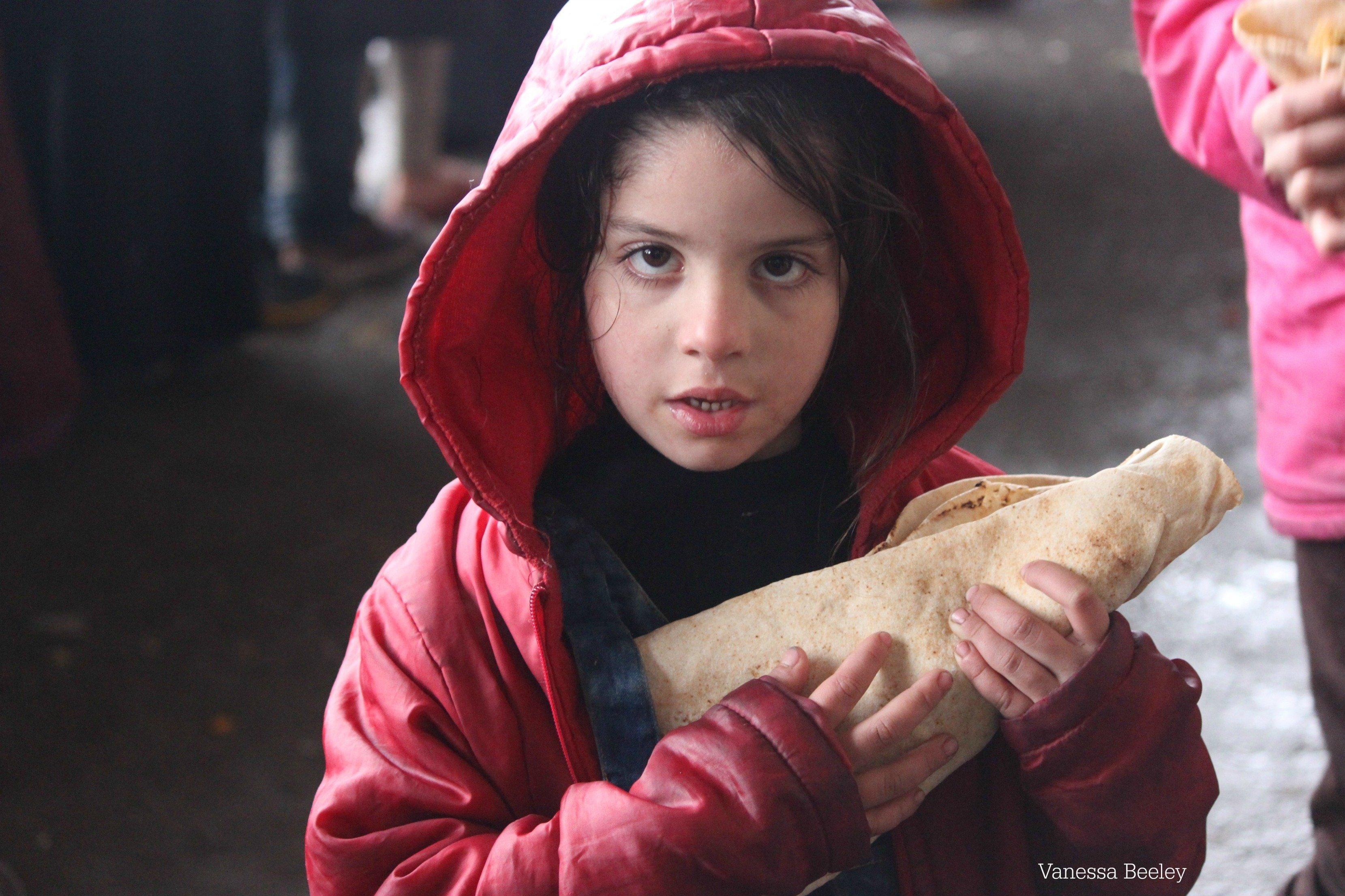 Une fille à Alep récemment libérée