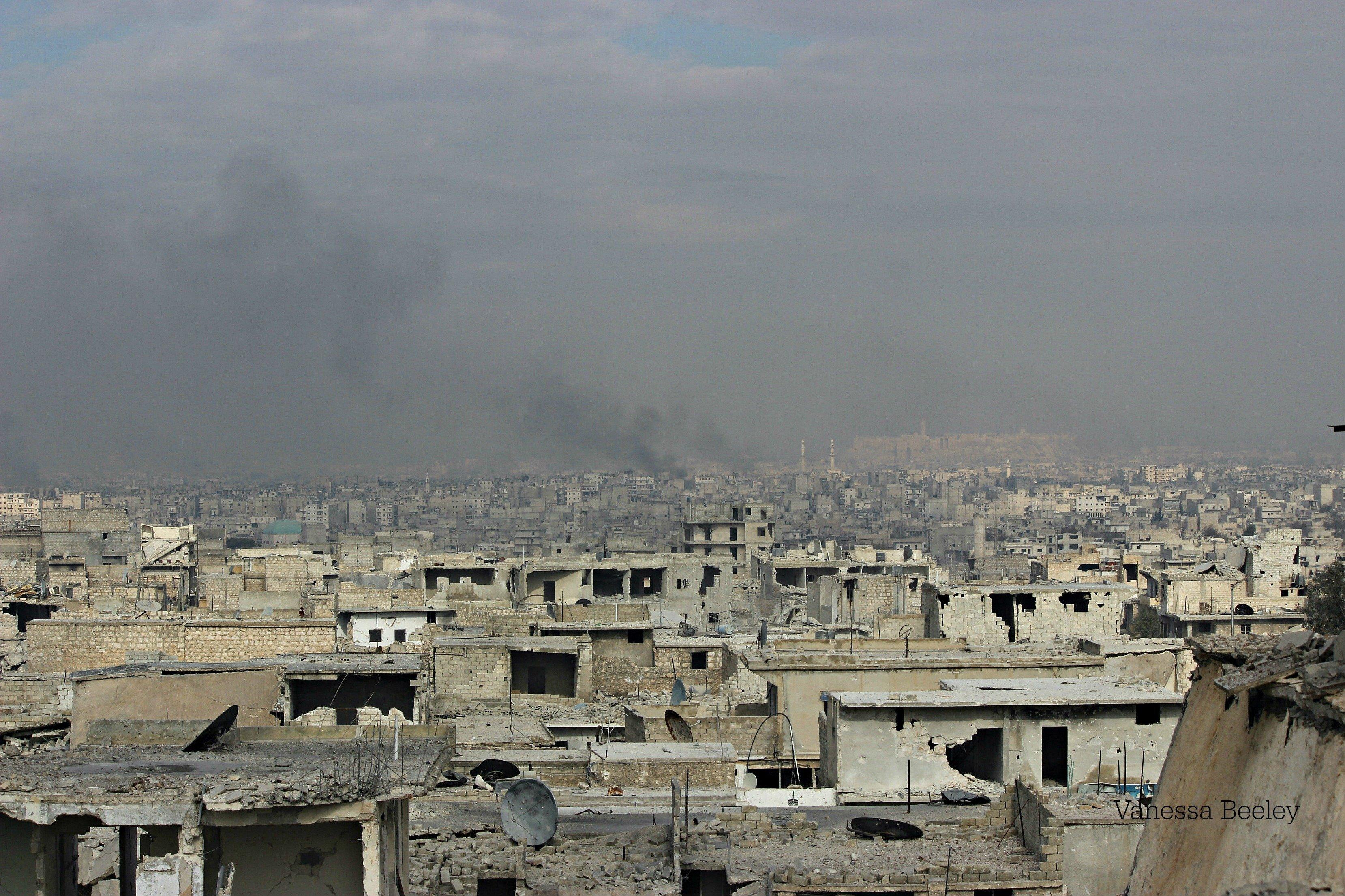 Vue des toits de Sheikh Said (Alep-Est)
