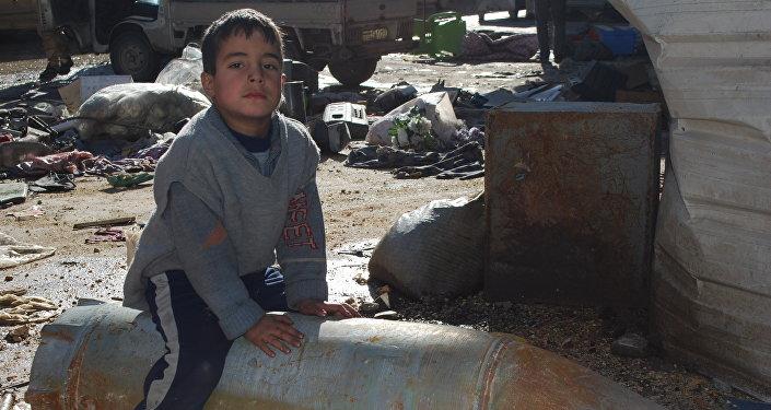 Junge in Aleppo