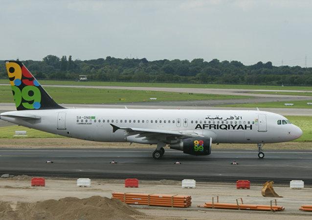 Un Airbus A320 de la compagnie libyenne Afriqiyah Airways