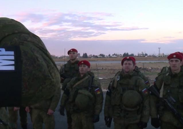 Le bataillon de police militaire russe déployé en Syrie (VIDEO)