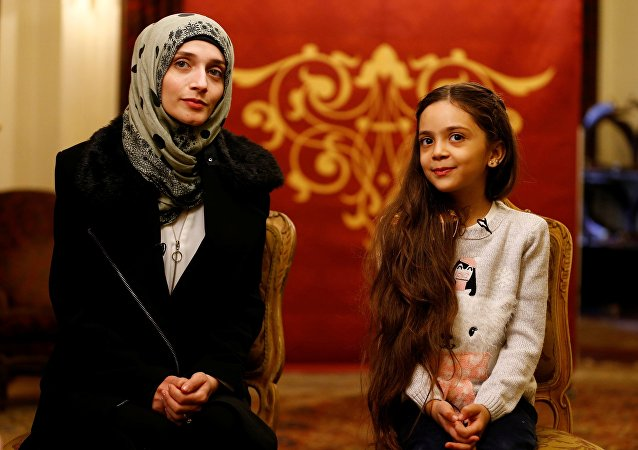 Bana et sa mère Fatima