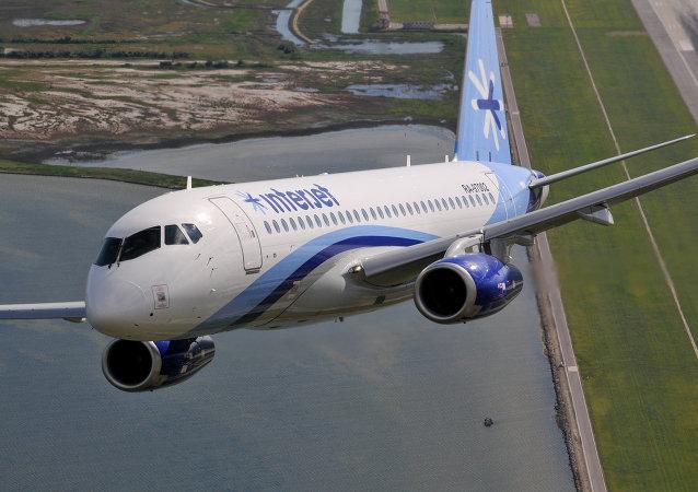 Un SSJ100 de la compagnie mexicaine Interjet