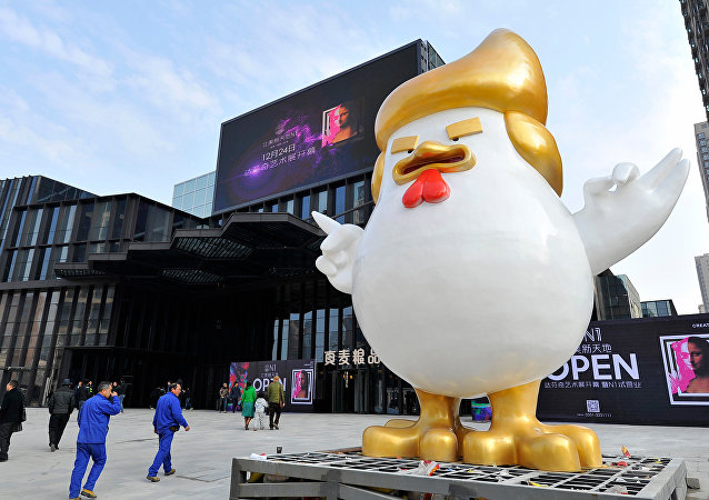 Chine: Trump réincarné en poulet pour l'année du Coq