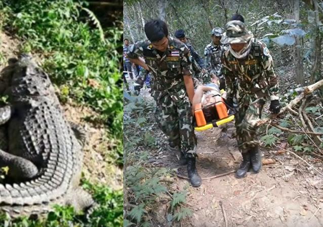 Le selfie d'une Française avec un crocodile en Thaïlande tourne mal