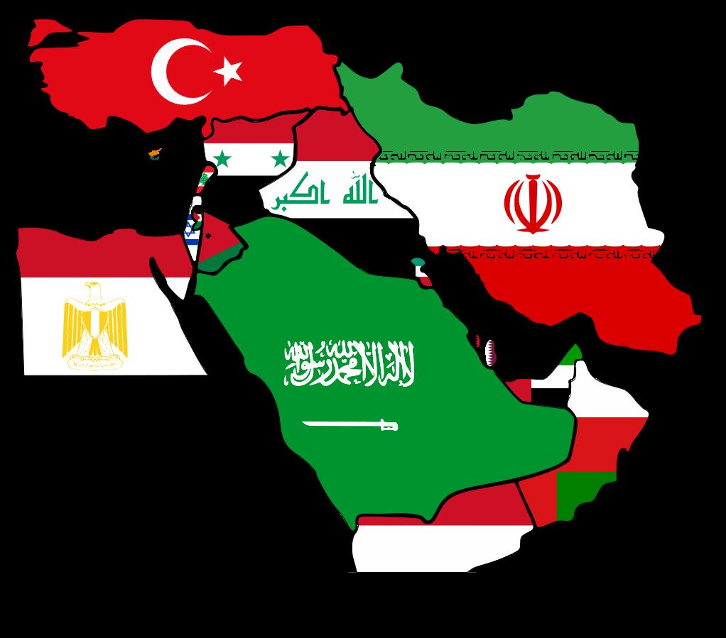 Drapeaux du Moyent-Orient