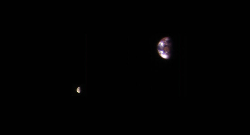 La Terre et la Lune vues depuis Mars