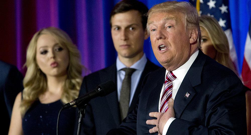 Donald Trump avec sa fille et son gendre