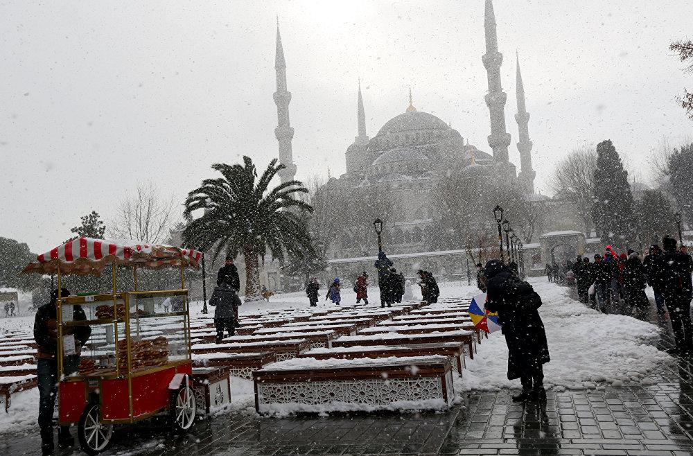 Istanbul sous la neige