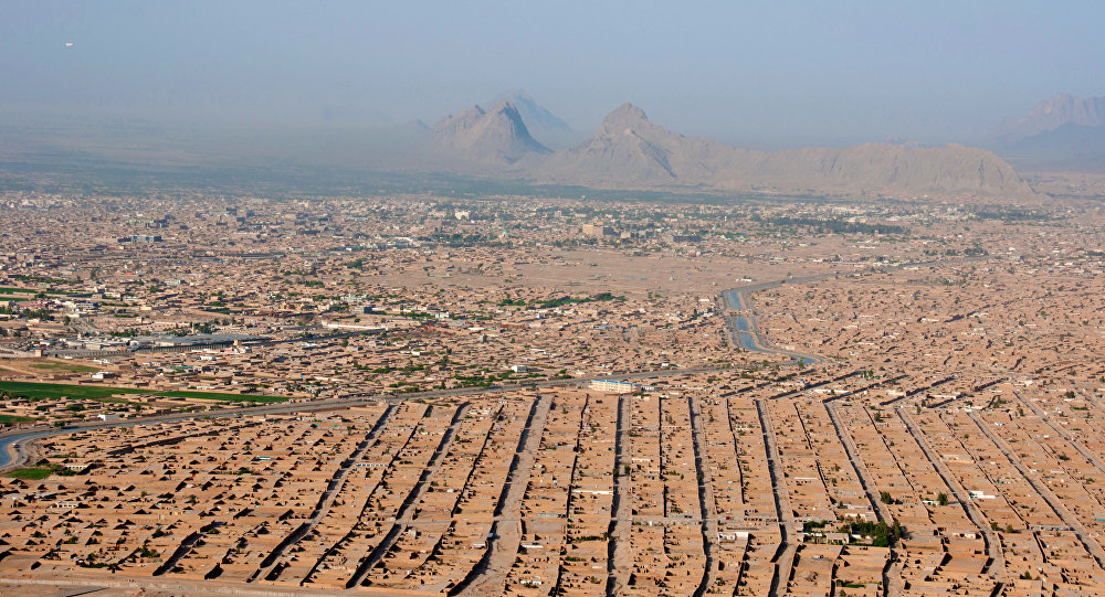 Vue aérienne de Kandahar