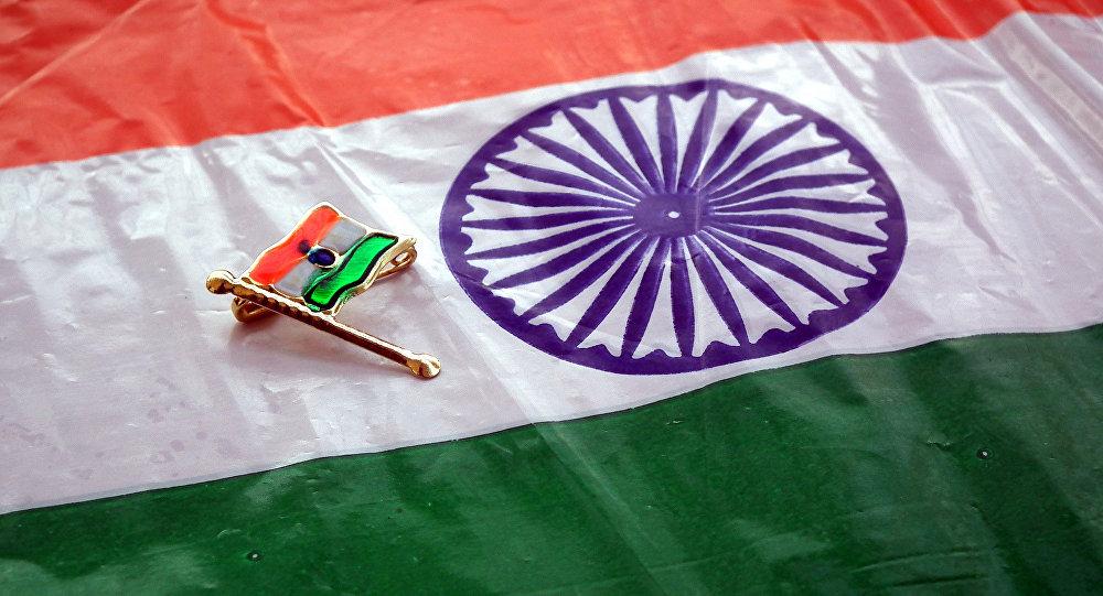 le drapeau national de l'Inde