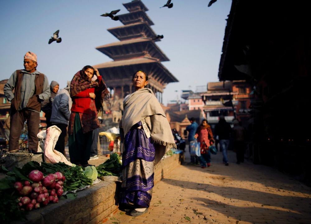 Un marché à Bhaktapur, au Népal