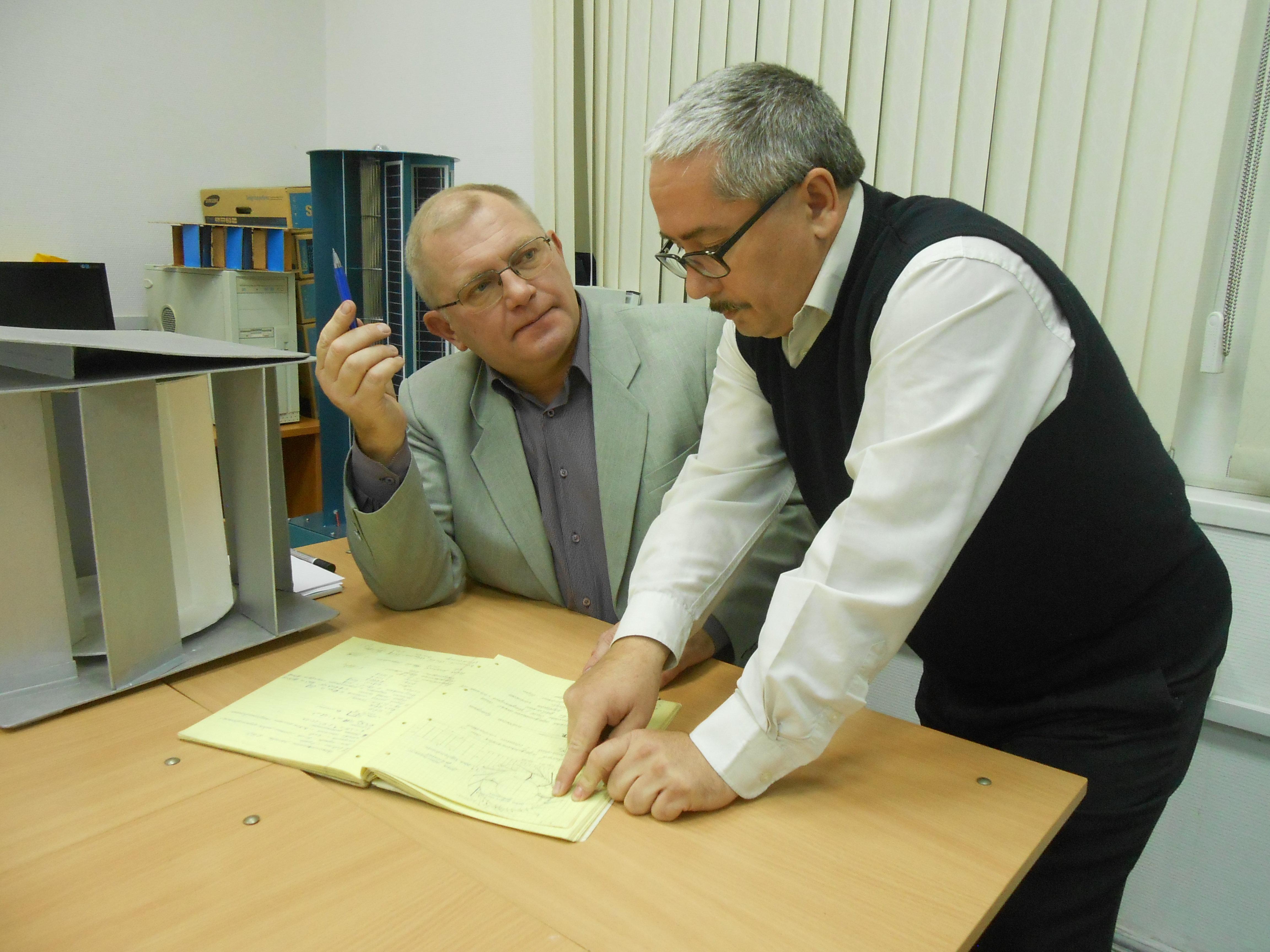 Valéri Perevalov (à droite) et Léonide Primak
