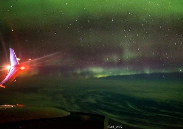 Les aurores boréales vues du ciel