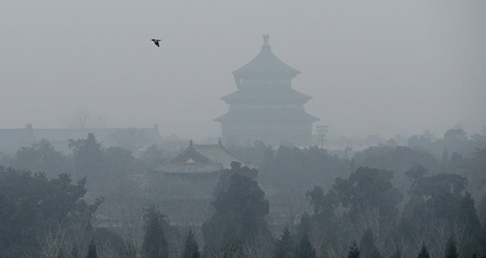 Forte pollution de l'air à Pékin le 8 décembre 2015.