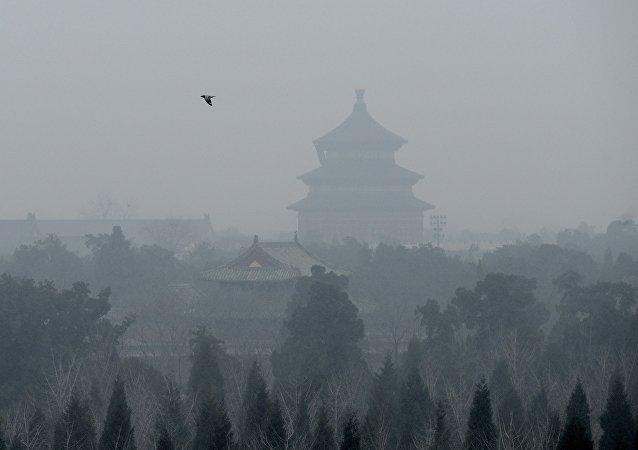 Forte pollution de l'air à Pékin le 8 décembre 2015.