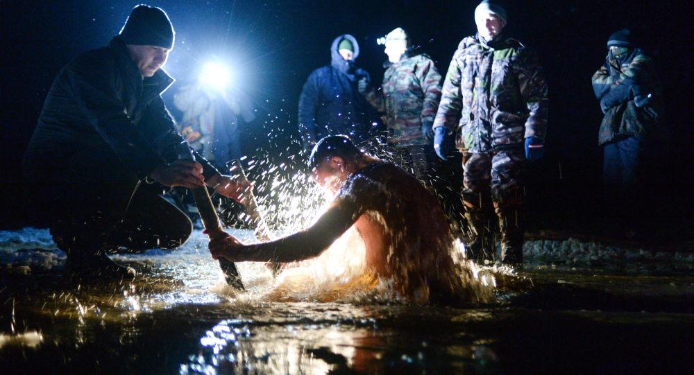 La baignade de la Théophanie