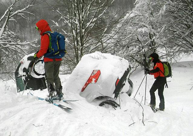 Avalanche en Italie