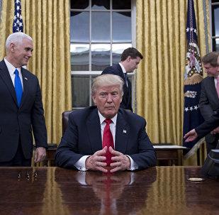Donald Trump à la Maison blanche