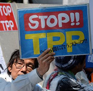 Protestation contre le TPP