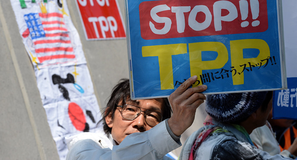 Protestation contre le TPP