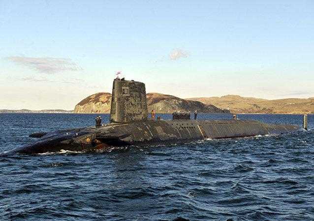 Le sous-marin nucléaire lanceur d'engins Victorious de la marine britannique