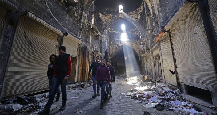 Des enfants syriens à Alep