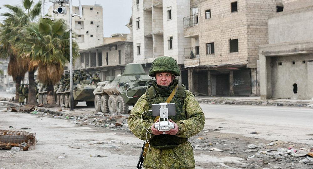 Démineur russe en Syrie