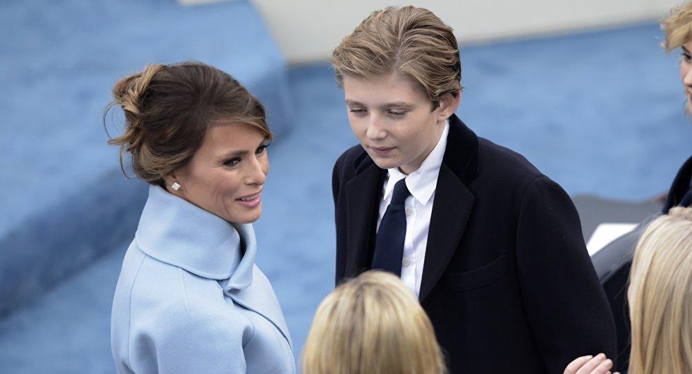 Melania Trump et Barron Trump