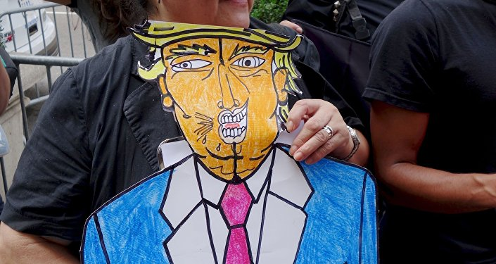 Manifestation anti-Trump. Image d'illustration
