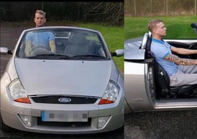 Un Britannique de grande taille privé de permis pour avoir «conduit debout»
