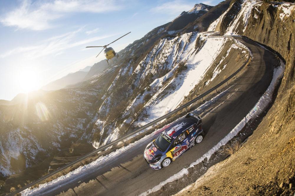 Le pilote français Sébastien Ogier lors du championnat du monde des rallyes 2017 à Monaco
