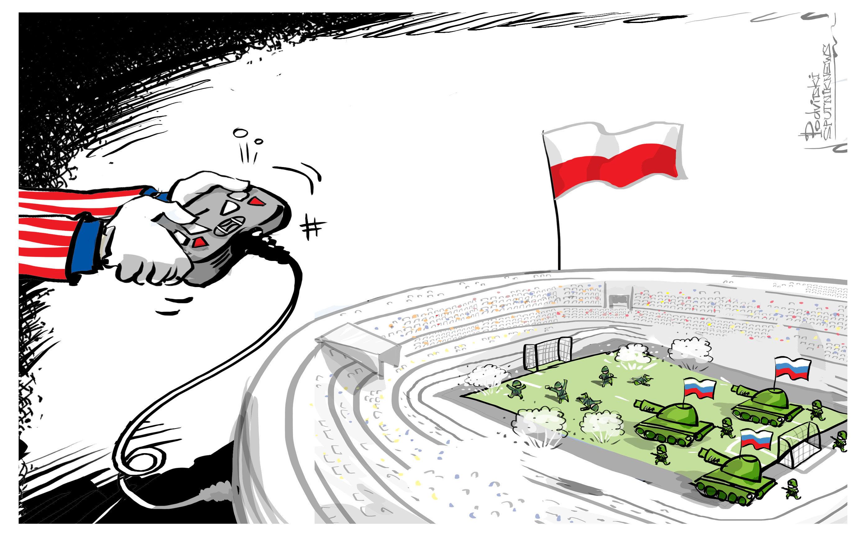 la «guerre contre la Russie» simulée au stade de Varsovie