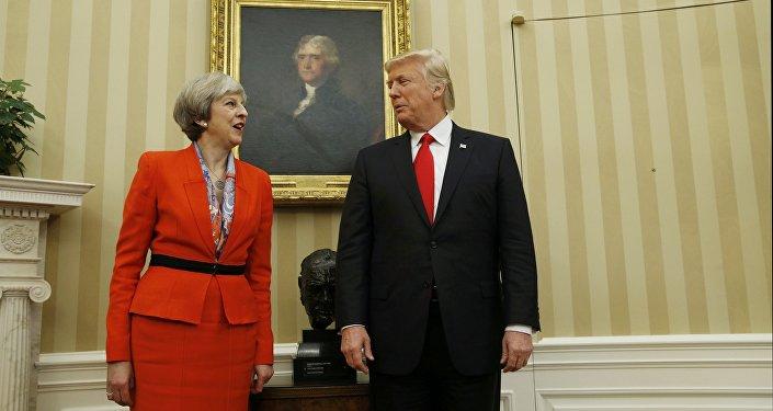Theresa May et Donald Trump