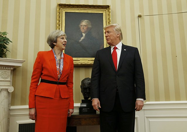 Theresa May et Donald Trump