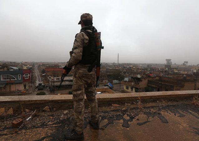 Un soldat irakien