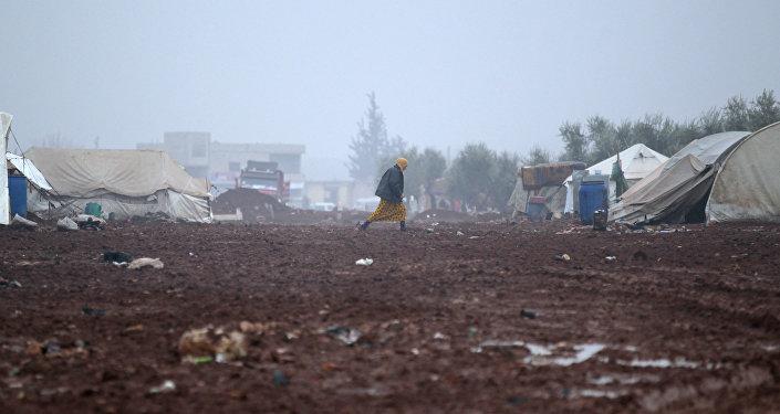 Un camp de réfugiés en Syrie (image d'illustration)