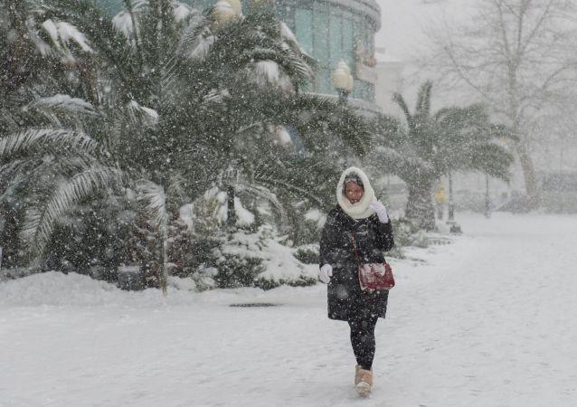 Sotchi sous la neige