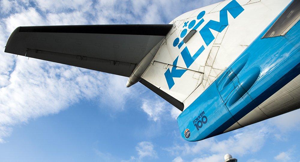 Un avion de ligne de la compagnie néerlandaise KLM