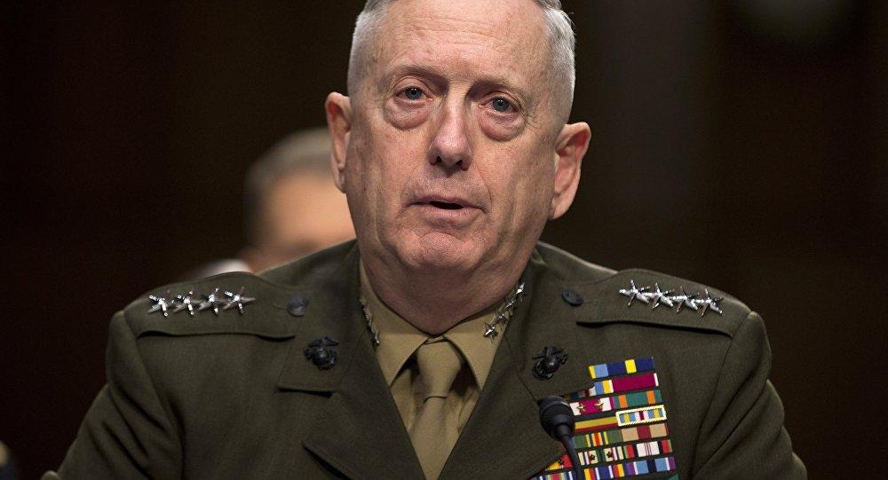 Le chef du Pentagone James Mattis. Archive photo