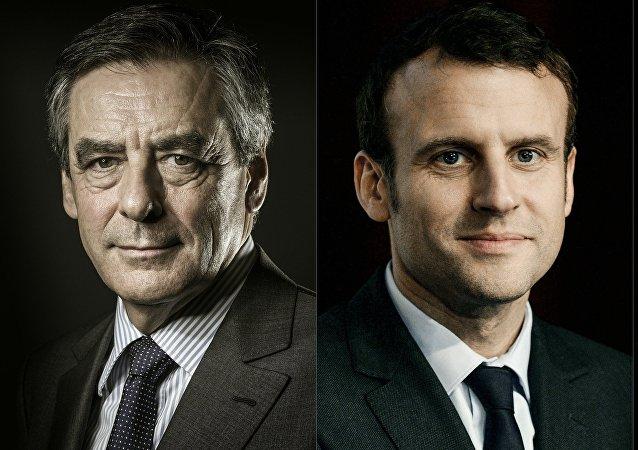 Francois Fillon et Emmanuel Macron