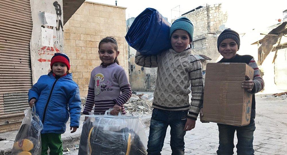 Enfants en Syrie. Image d'illustration
