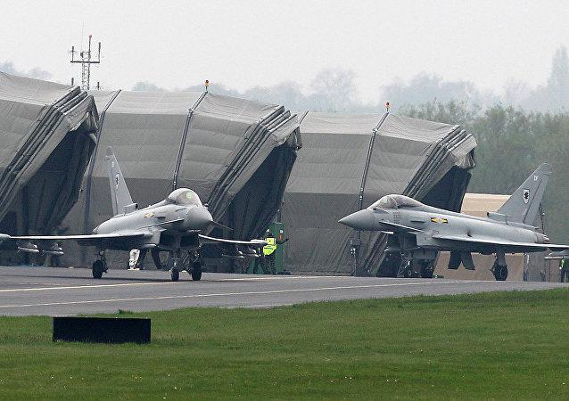 Des avions Typhoon de l'armée de l'air britannique