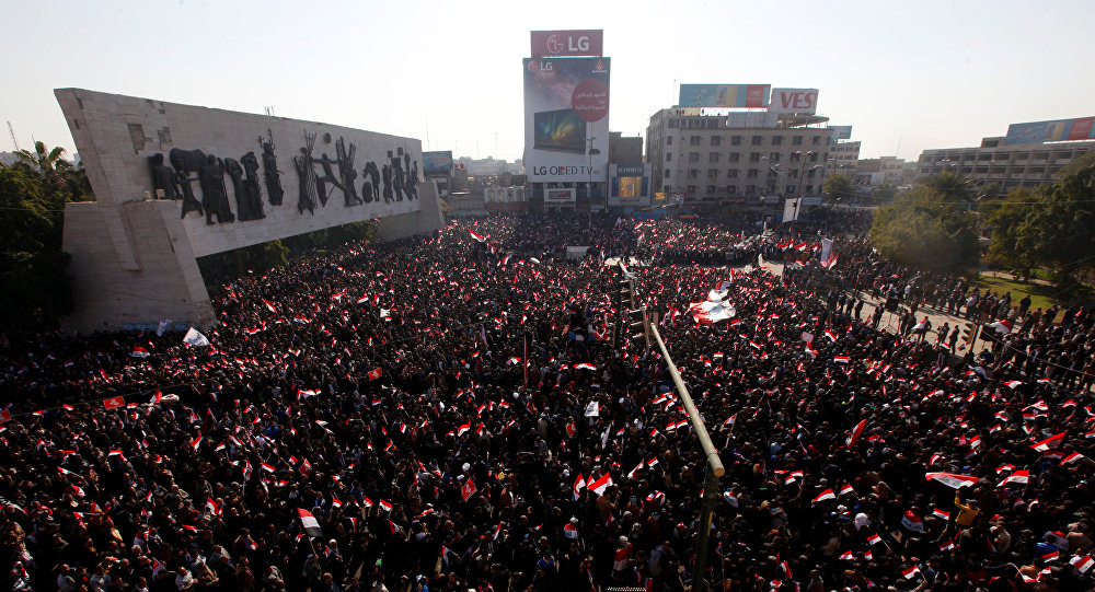 Répression sanglante d'une manifestation à Bagdad, tirs sur la Zone verte — Irak