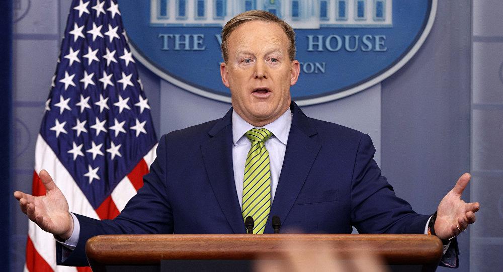 Le porte-parole de la Maison-Blanche Sean Spicer