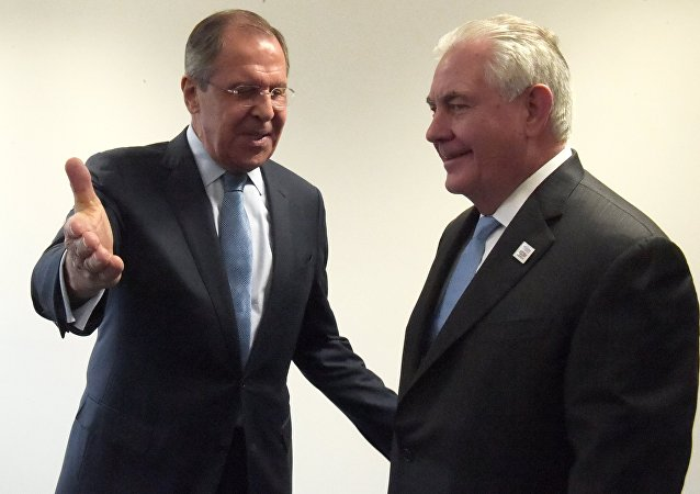Sergueï Lavrov et Rex Tillerson