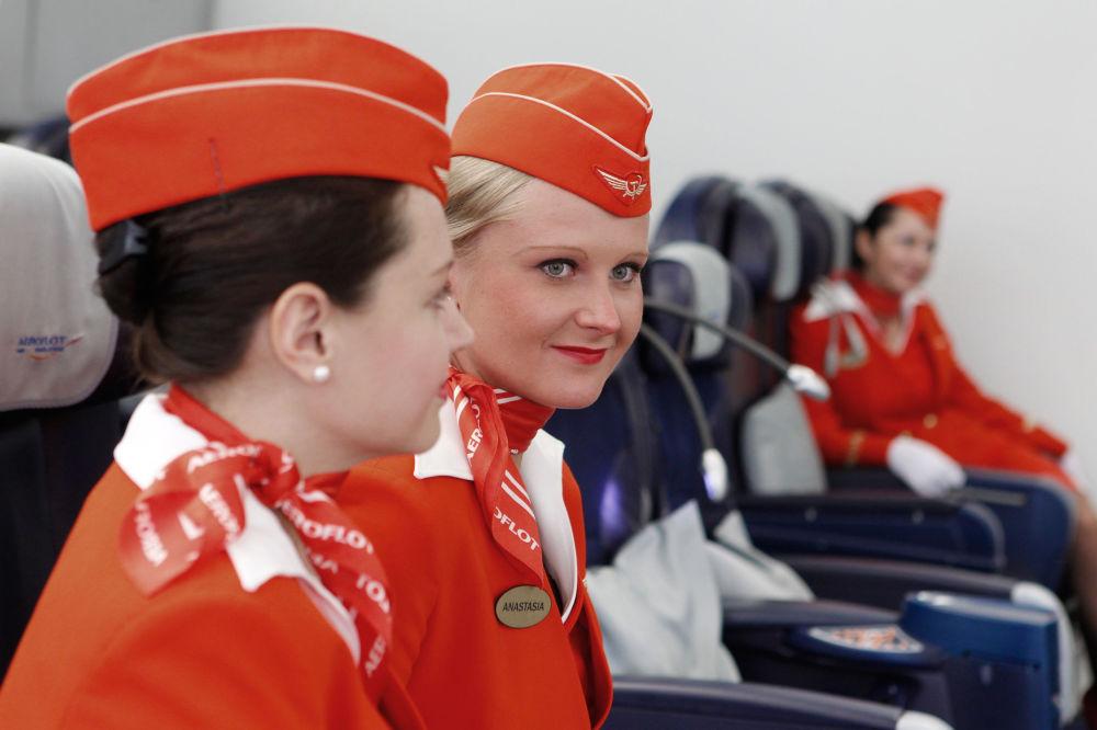Les hôtesses de l'air d'Aeroflot