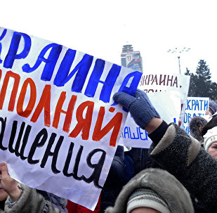 Meeting à Donetsk