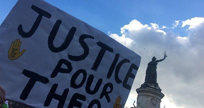 Manifestation JusticePourTheo à Paris