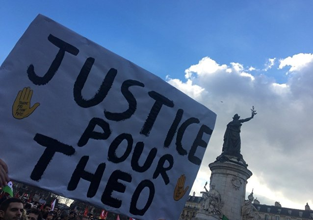 Manifestation JusticePourTheo à Paris